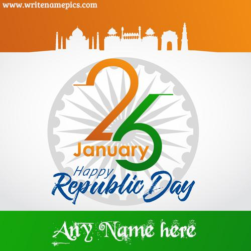26 January Happy Republic Card with Name