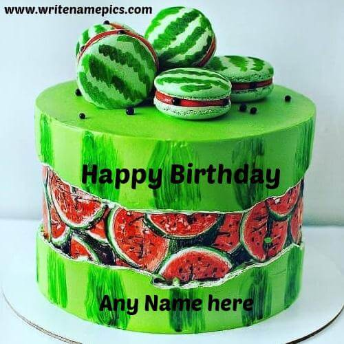 Amazing Happy Birthday Cake with Name online
