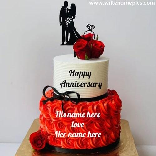 Anniversary Cake With Name Didi And Jiju