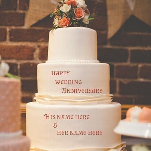 Anniversary cake with name edit