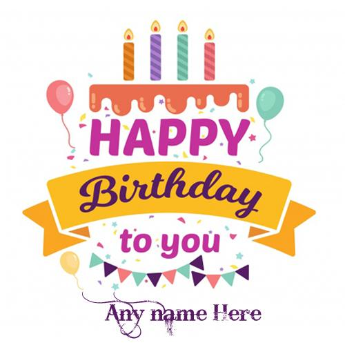 Beautiful happy birthday wishes greeting cards with name images