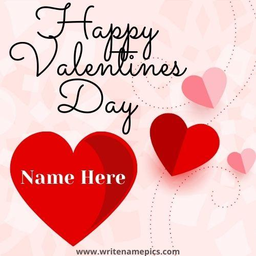 Best Happy Valentines Day Card with Name