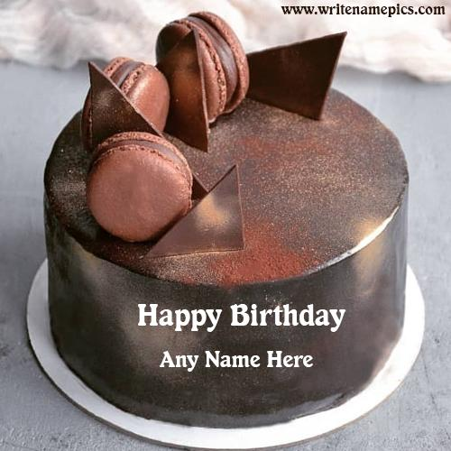 Birthday Chocolate Cake with Name Edit Online