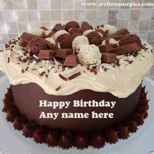 Create Happy Birthday cake online by entering name