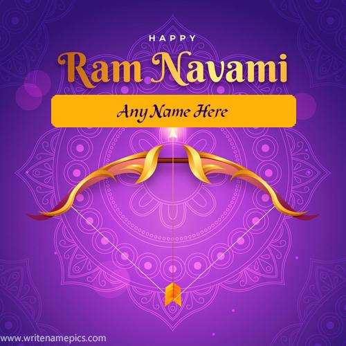 Create Happy Ram Navami 2021 card with Name