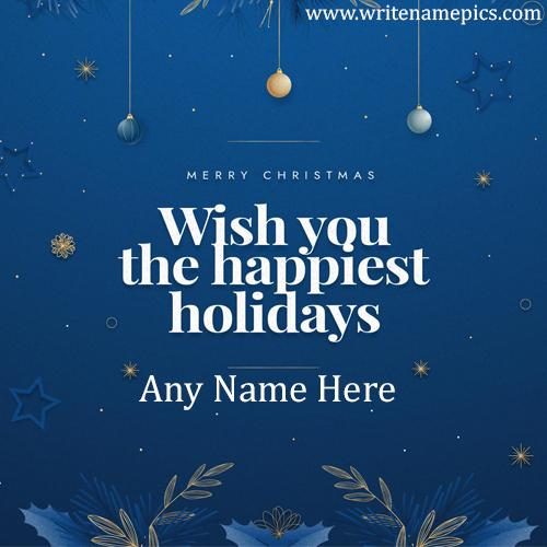 Create Merry Christmas 2020 Greeting Card with Name pic