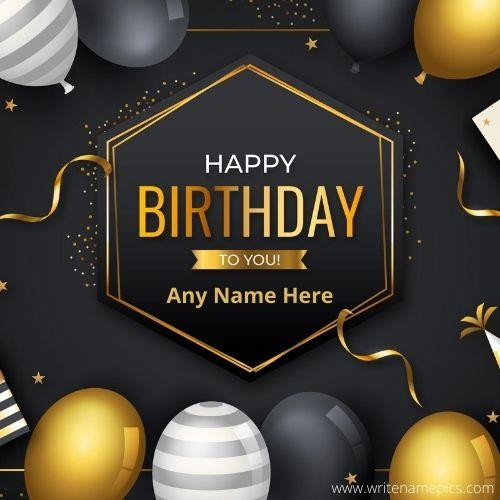 Create designer Happy Birthday wishes Card with Name