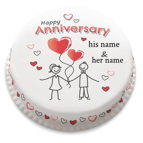 Happy Anniversary wishes Little Heart Cake