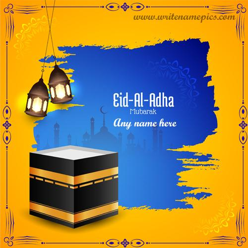 Eid Al Adha 2020 Mubarak Card with Name editor