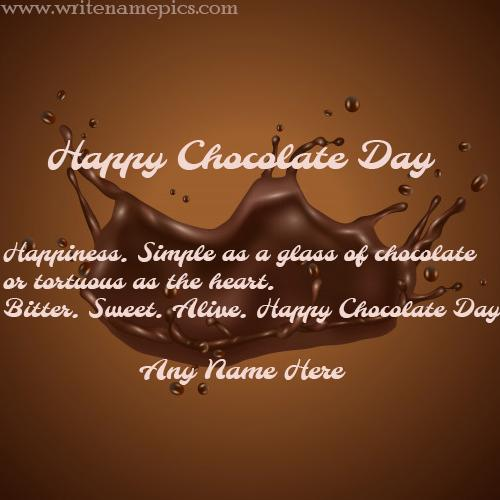 Fantastic Happy Chocolate Day Card online