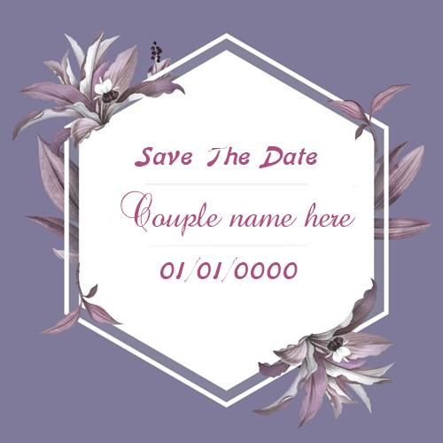 Free Online Wedding Invitation Card With Name