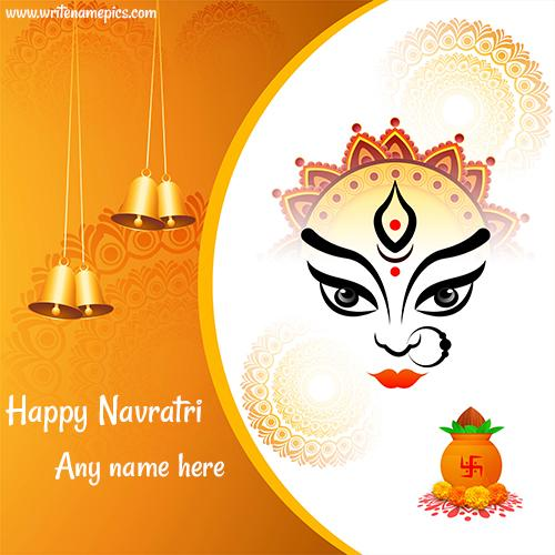 Generate customized Navratri wishes with Name for special wish