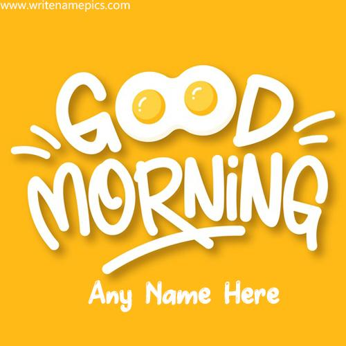 Good Morning greeting image with Name