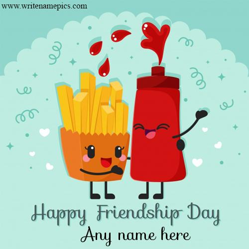 Greet a Happy Friendship Day to Friend with their name
