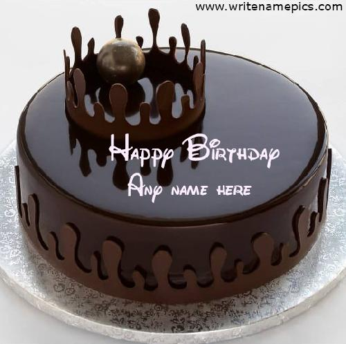 Happy Birthday Chocolate Cake with Name Edit Online free