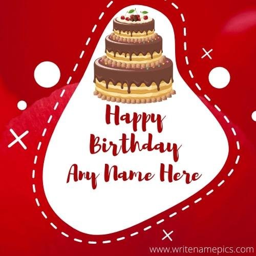 Happy Birthday Greetings Card with Name Editor