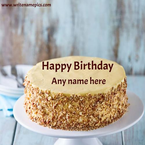 Happy Birthday cake with Name Image Free Edit