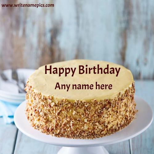 Happy Birthday cake with Name Image Free Edit