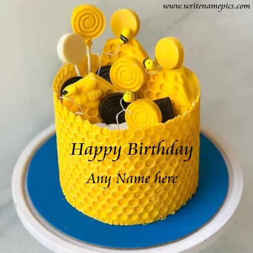 Happy Birthday wishes with Name Editor Cake