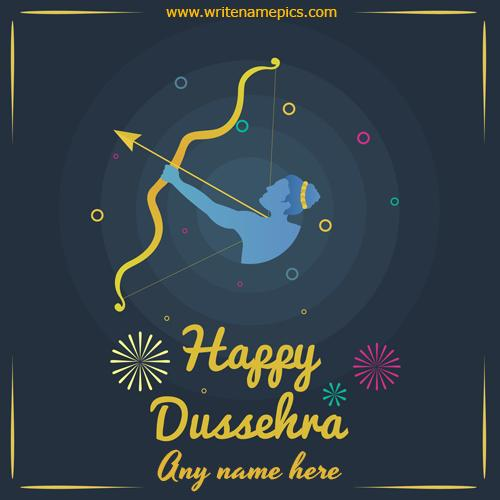 Happy Dussehra 2020 Card With Name Free Edit