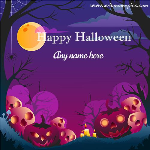 Happy Halloween wishes with name image
