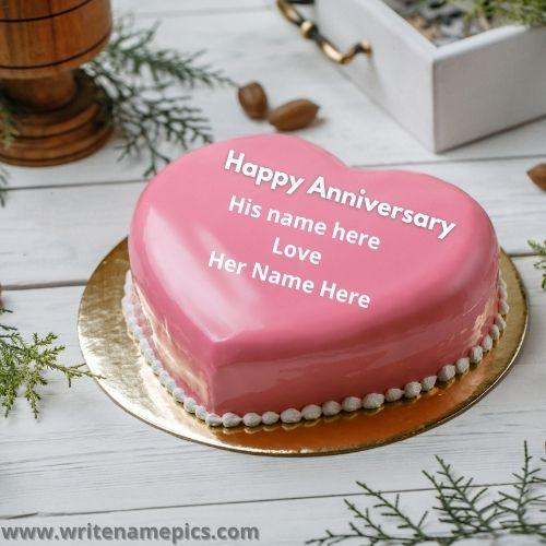 Happy Marriage Anniversary Cake with Name Edit