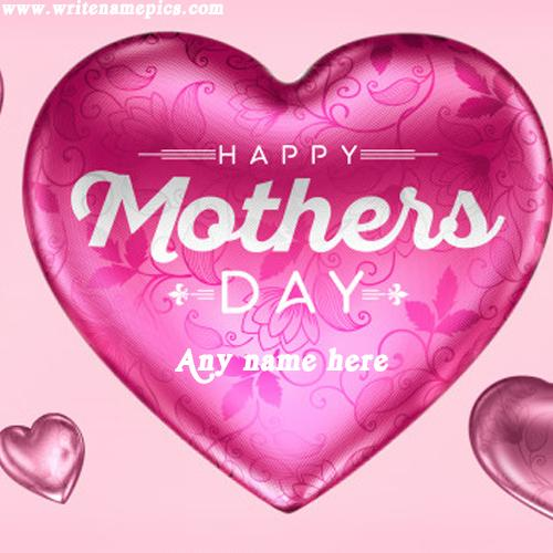 Happy Mothers Day with name image