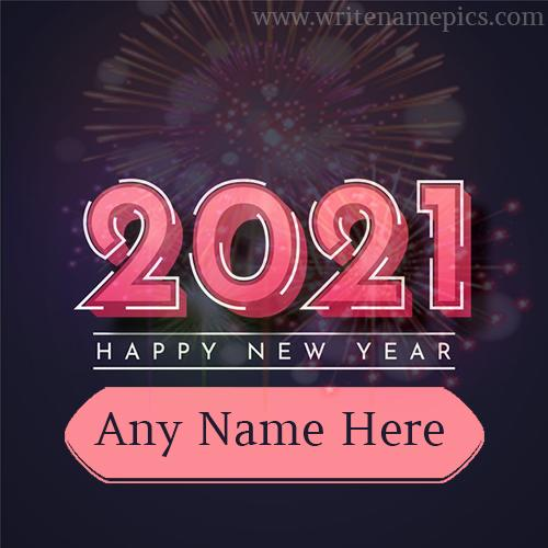 Happy New Year 2021 Card with Name editing