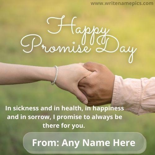 Happy Promise Day 2021 Wishes with Name Editor