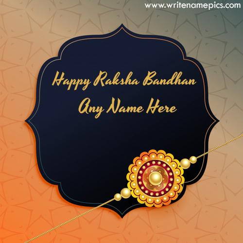 Happy Raksha Bandhan 2020 Card with Name image