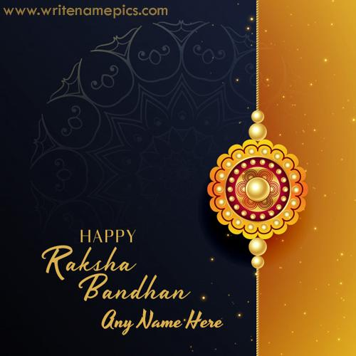 Happy Raksha Bandhan Card with Name online