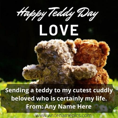 Happy Teddy Day 2021 Greeting Card Free Edit