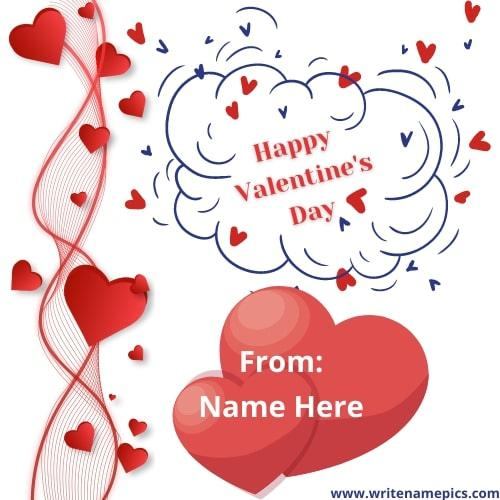 Happy Valentine Day 2022 Wishes with Name Edit