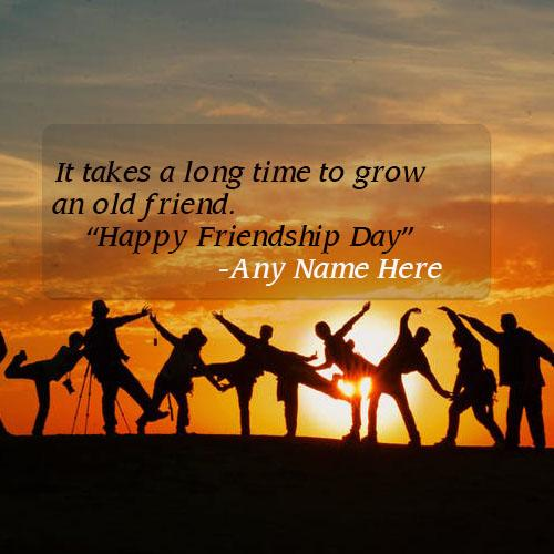 Happy friendship day quotes with name pic free download