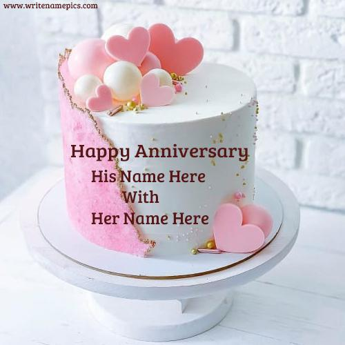 Happy marriage anniversary cake with name download
