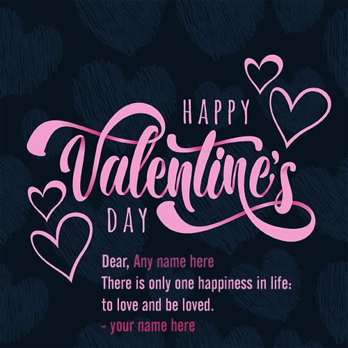 Happy valentines day wishes greeting card with name pic
