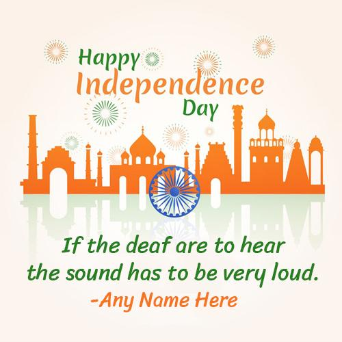 Independence Day Greeting Image with Name Editor
