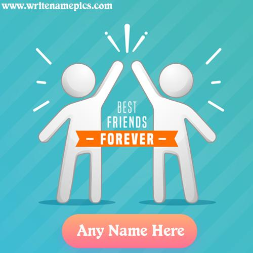 International friendship day greeting card with name