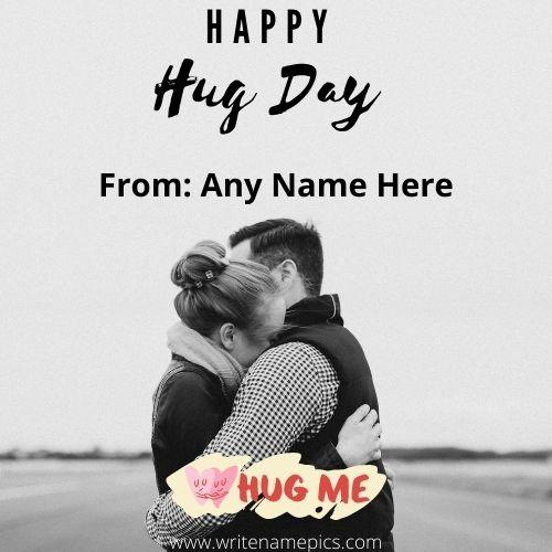 Latest Happy Hug Day Card With Name Edit