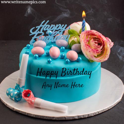 Make Lovely Happy Birthday Cake with Name editor image