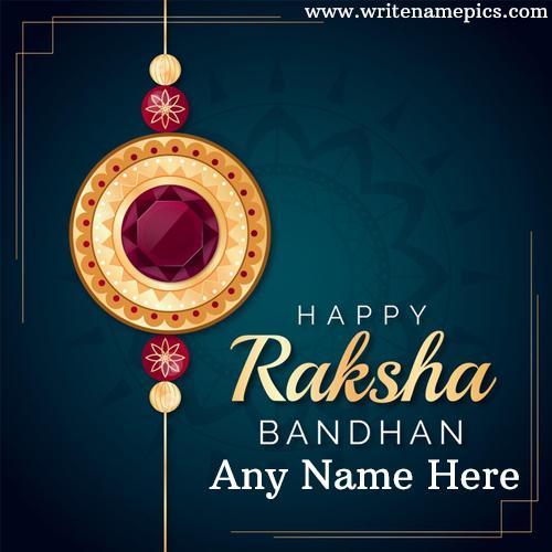 Make Online Happy Raksha Bandhan wishes card with Name