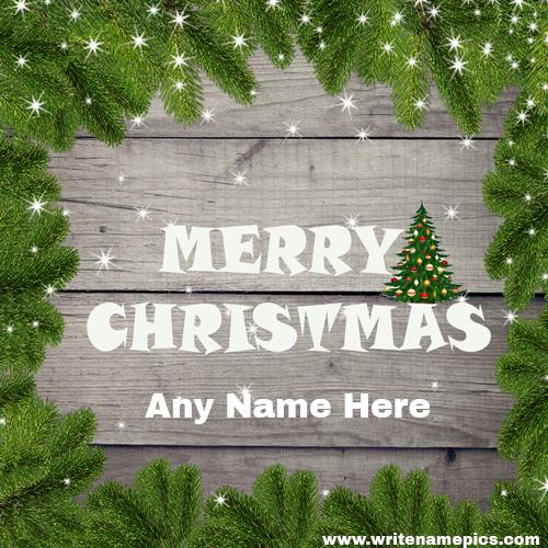 Merry Christmas 2020 card with name free