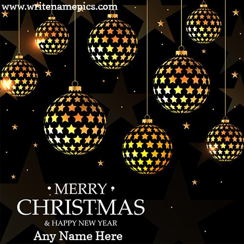 Merry Christmas and New Year 2021 wishes card with Name