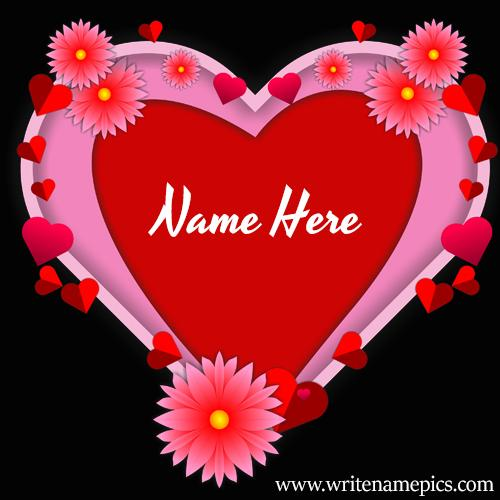 Online Love Card Maker with Name Picture Free Download