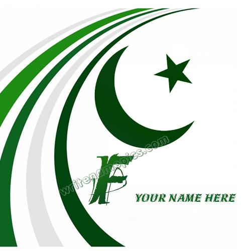 Pakistan Flag with F Alphabet name Whatsapp Profile images