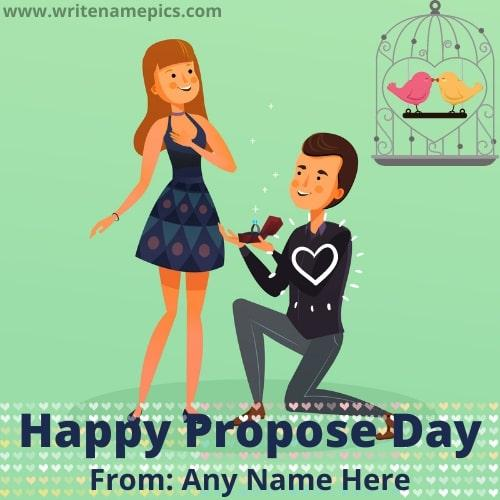 Personalized Happy Propose Day Greeting Card With Name