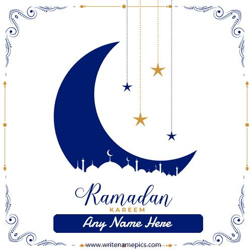Personalized Happy Ramadan Card with Name