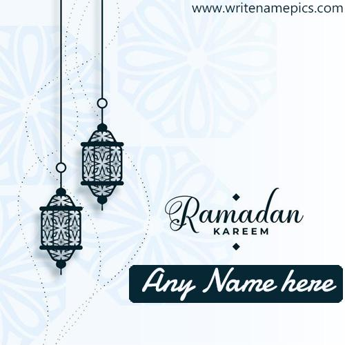 Ramadan Kareem 2021 card with name pic Edit