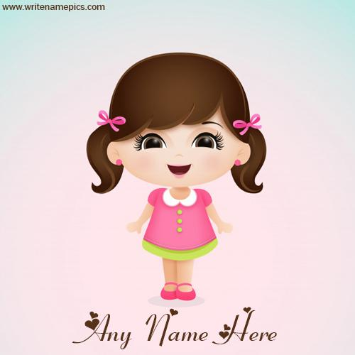 Simple Baby Doll Image with Name online editor