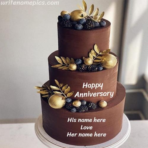 Very special Anniversary Cake With Name
